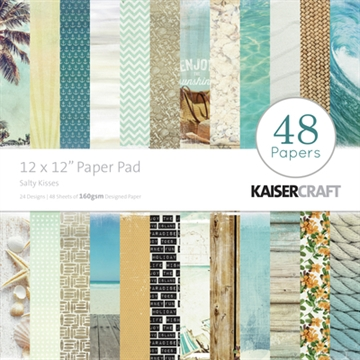 "KaiserCraft paper pad 12x12"" - Salty kisses sandy toes"